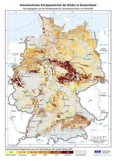 Wo ist guter Boden in Deutschland