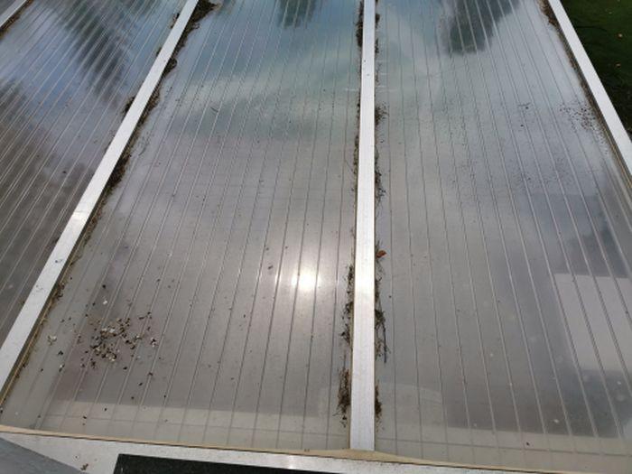 Dach vor dem reinigen